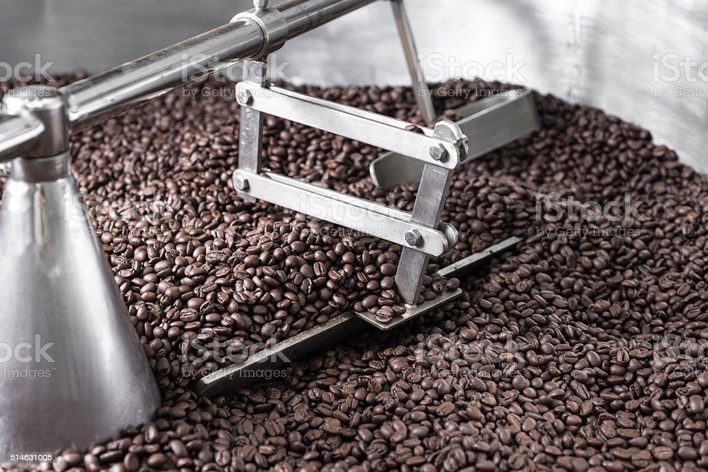 Coffee series : Coffee roasting machine stock photo