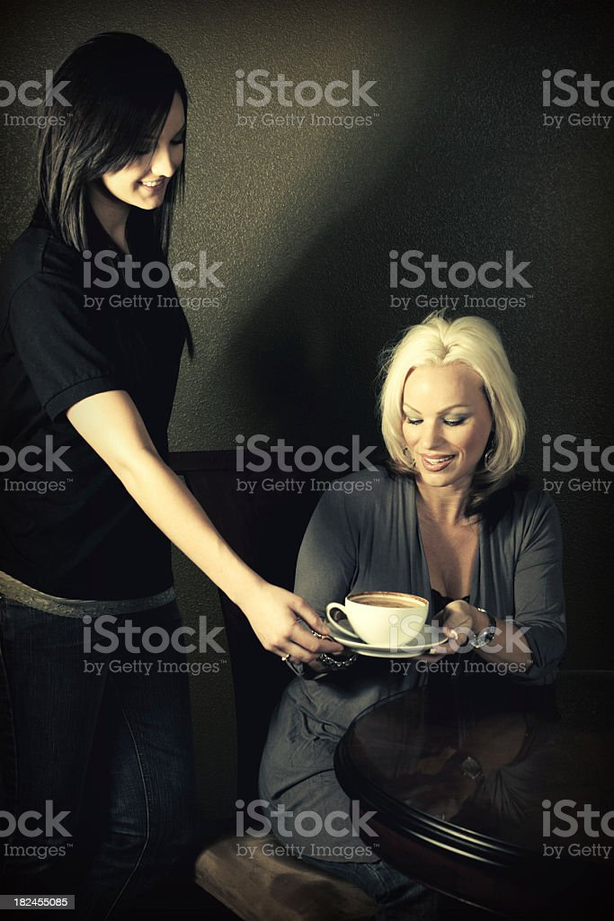 Coffee Service with a Smile royalty-free stock photo