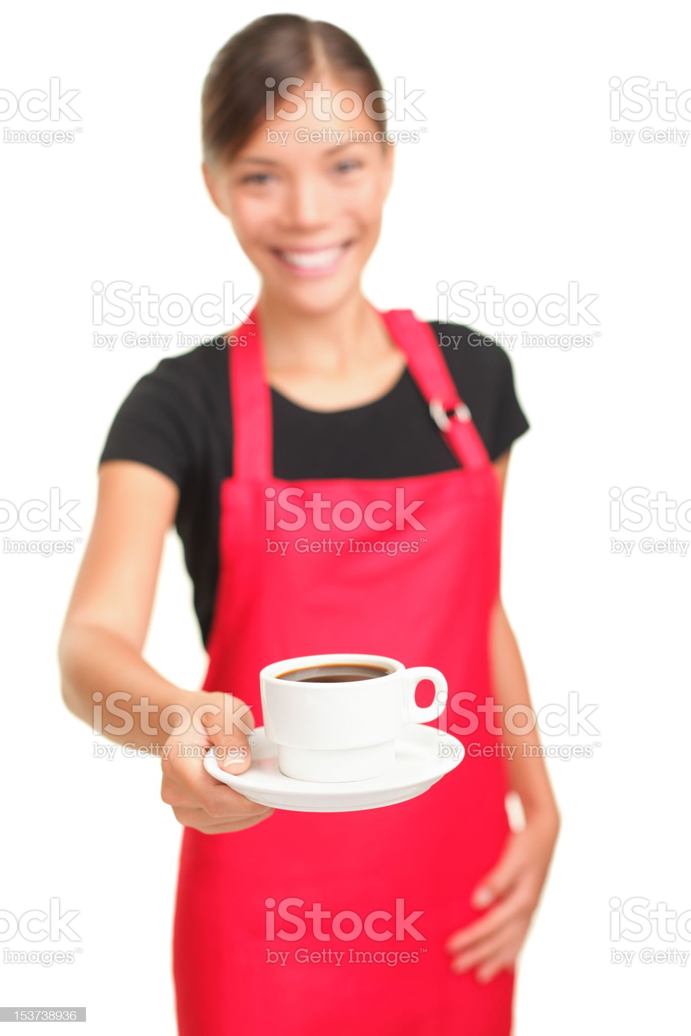 Coffee serving waitress royalty-free stock photo
