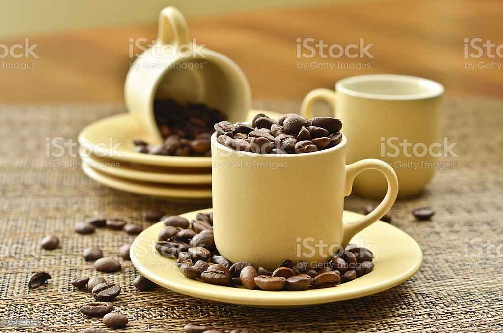 Coffee set on a table royalty-free stock photo
