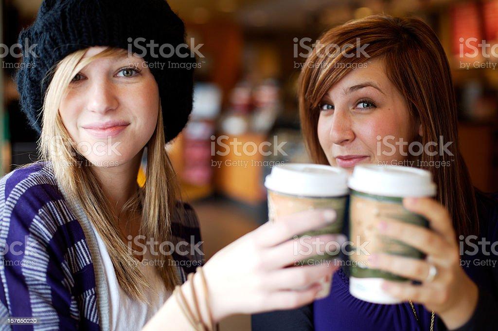 coffee shop bistro female friendship royalty-free stock photo