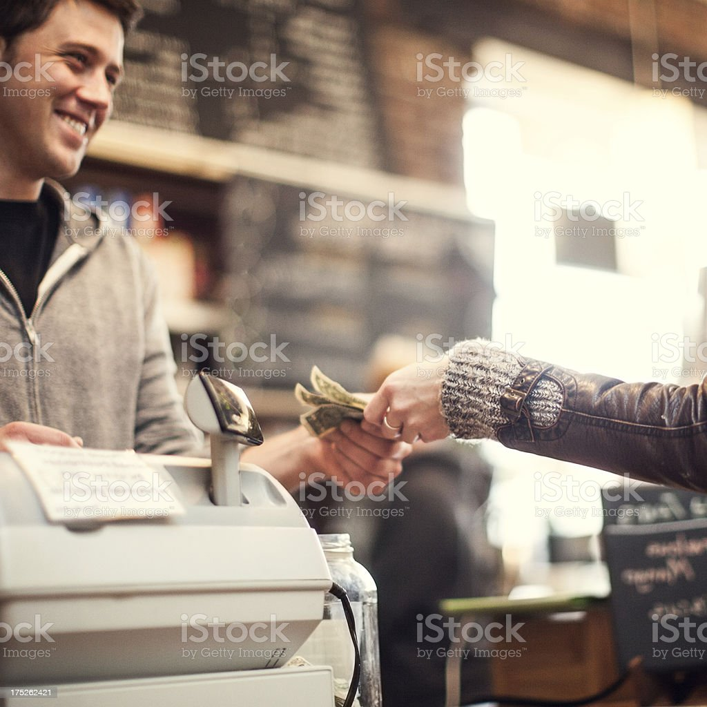 Coffee Shop Customer stock photo