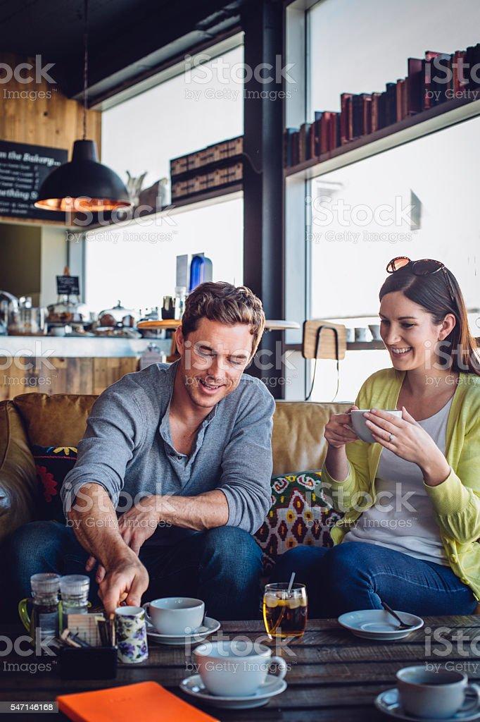 Coffee Shop Date stock photo