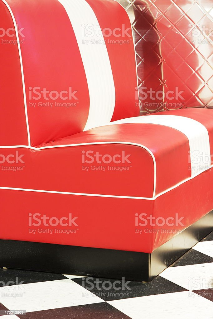 Coffee Shop Diner Seat 1950s Restaurant royalty-free stock photo