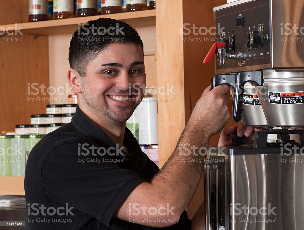 Coffee Shop Friendly Service royalty-free stock photo