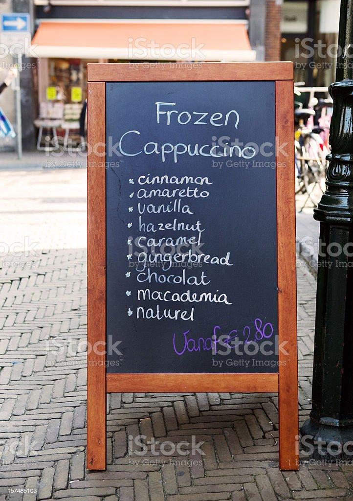 Coffee Shop Menu in Amsterdam stock photo