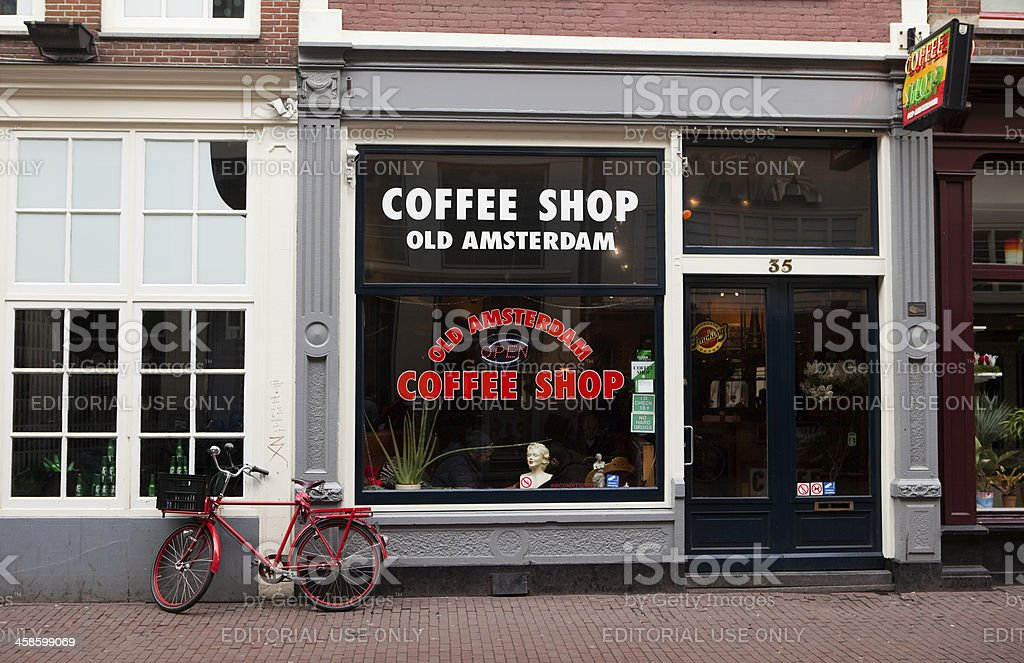 Coffee Shop, Old Amsterdam royalty-free stock photo