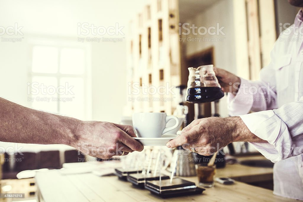 Coffee Shop Service royalty-free stock photo