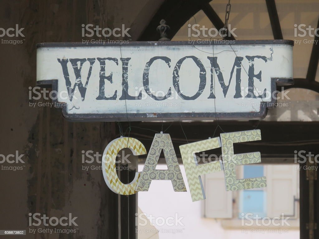 coffee shop sign stock photo