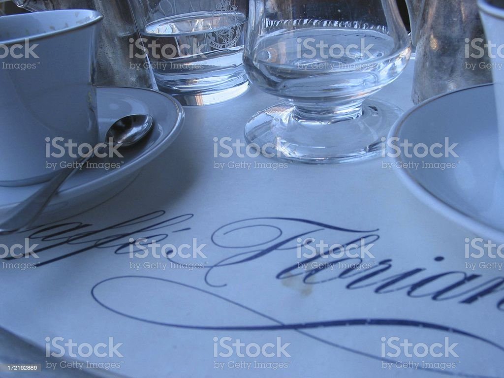 Coffee shop table royalty-free stock photo