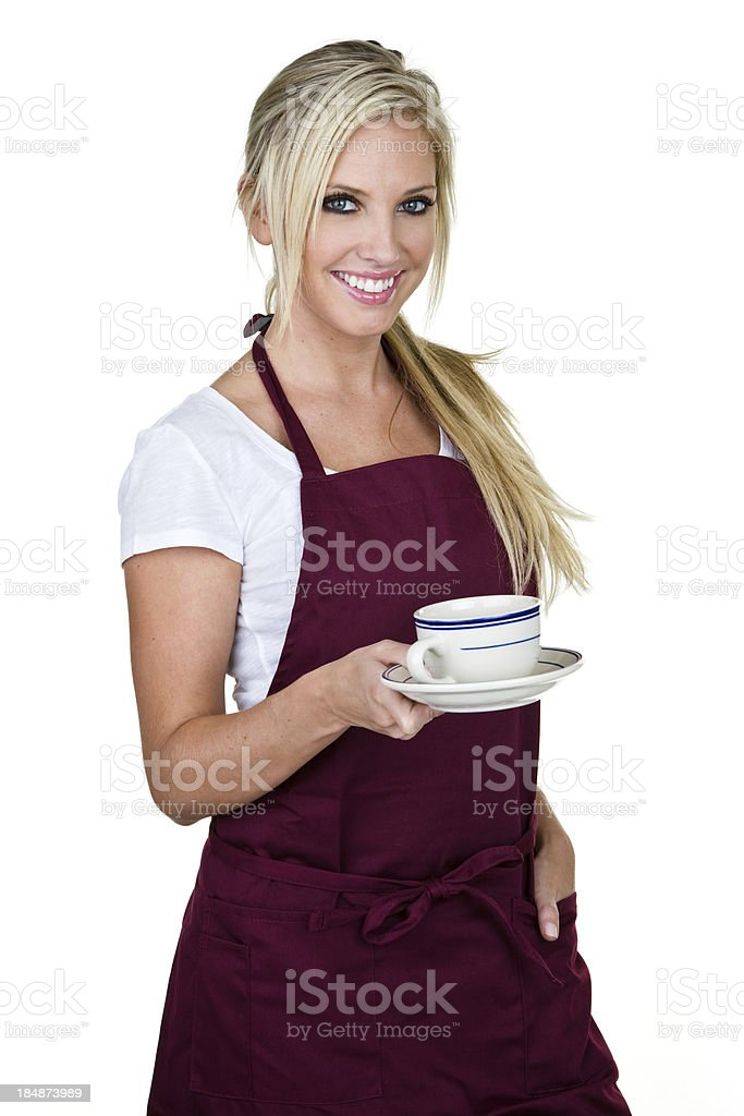 Coffee shop waitress royalty-free stock photo