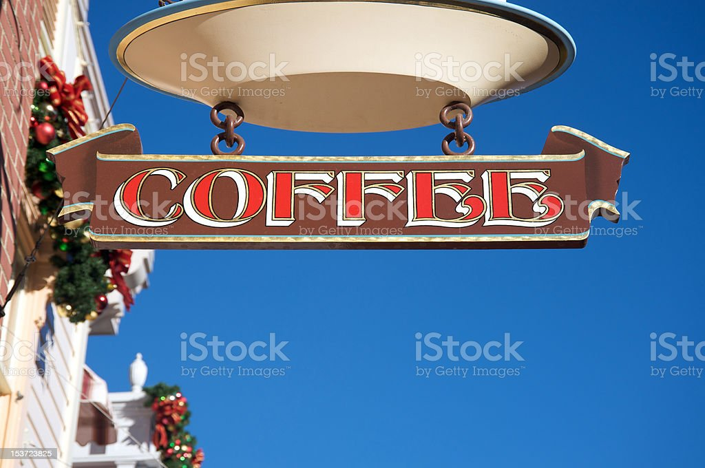 Coffee sign royalty-free stock photo
