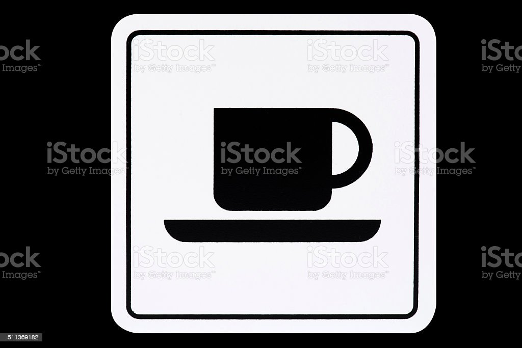 Coffee Signboard stock photo