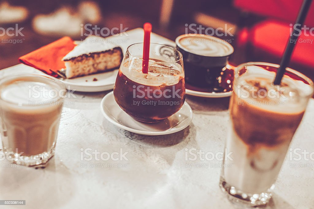 Coffee specialities stock photo