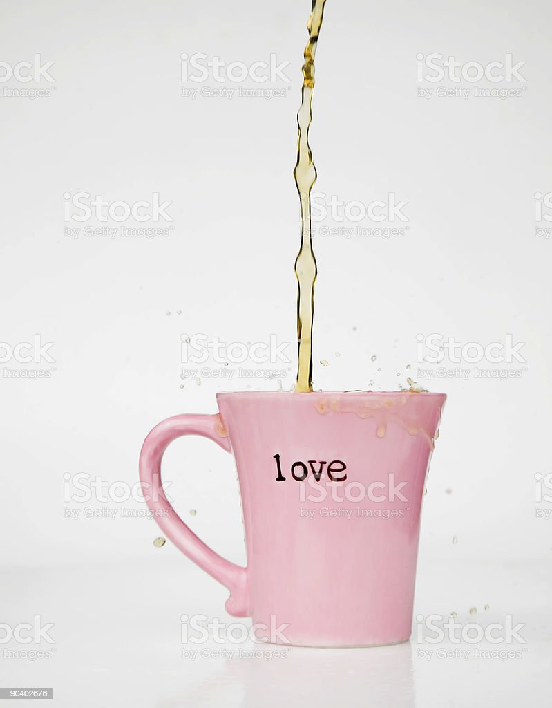 Coffee Splash Love Mug royalty-free stock photo