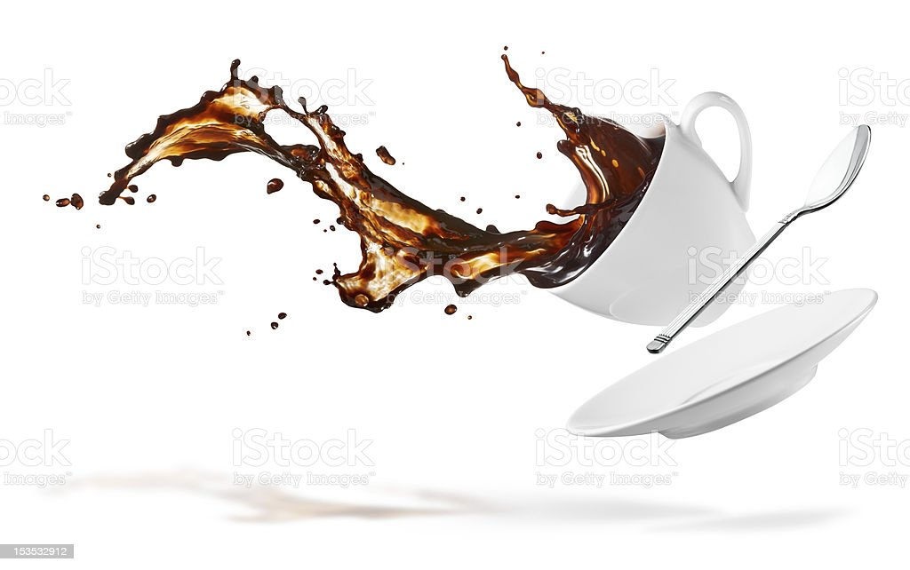 coffee splash stock photo