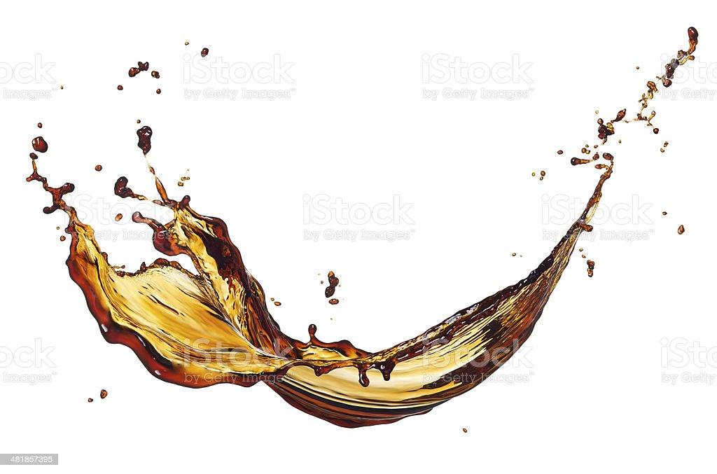coffee splash stock photo