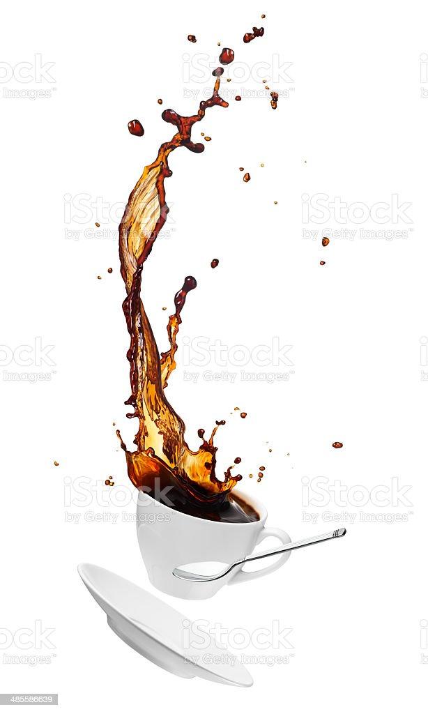 coffee splash royalty-free stock photo