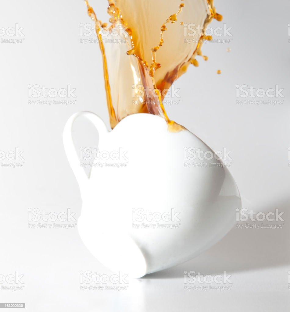 Coffee splashing stock photo