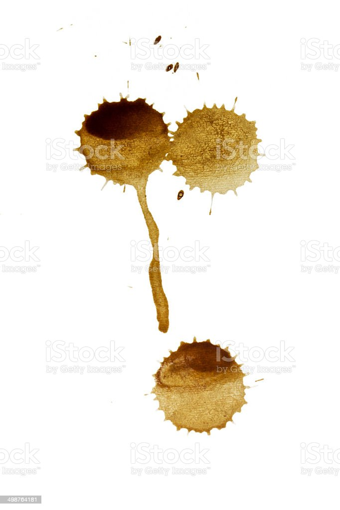 Coffee stain drops royalty-free stock photo