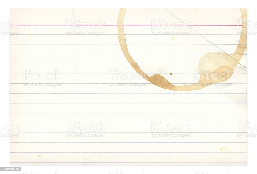 Coffee Stain Note Card royalty-free stock photo