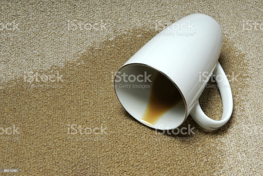 Coffee Stain on Carpet. stock photo