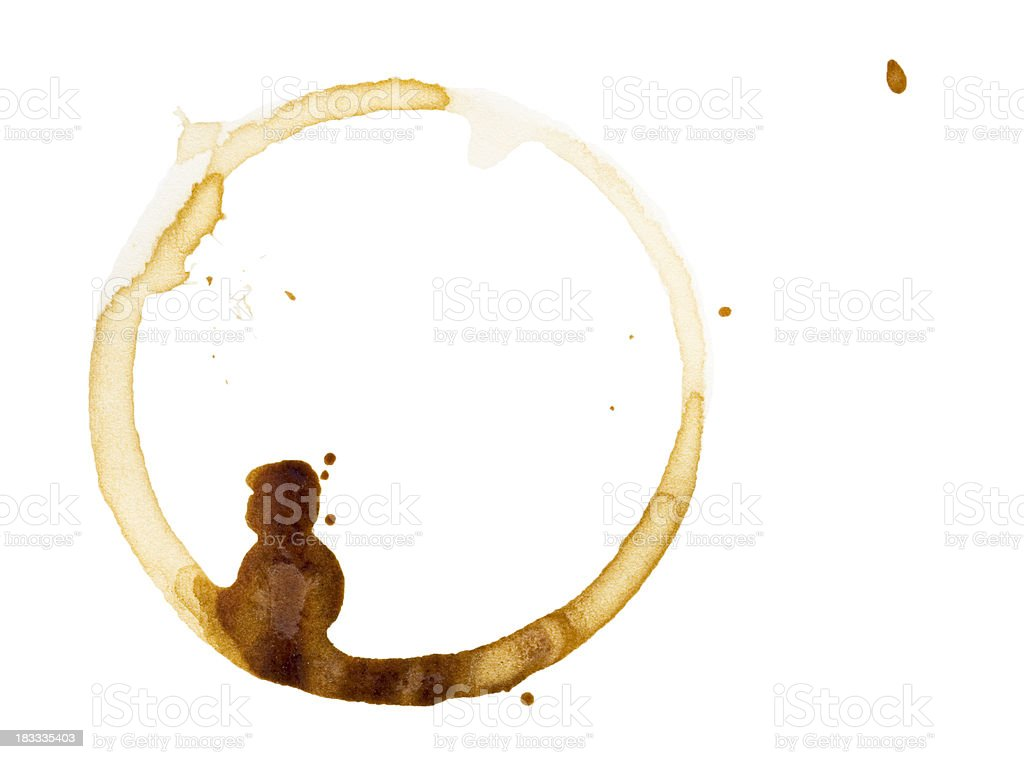 Coffee stain on paper stock photo