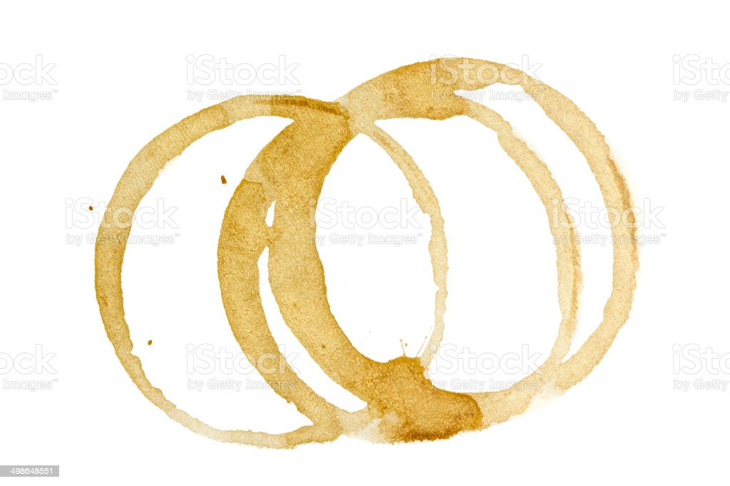 Coffee stain on paper royalty-free stock photo