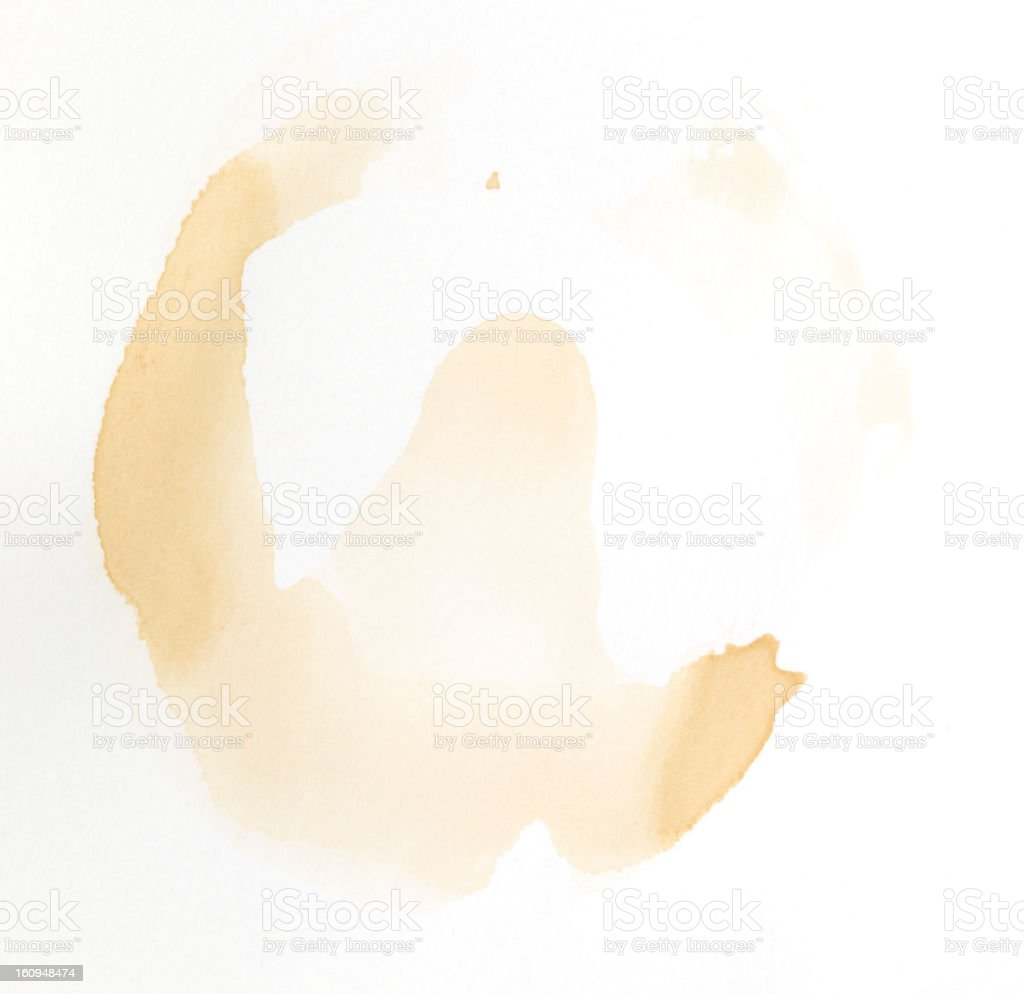 coffee stain on white background royalty-free stock photo