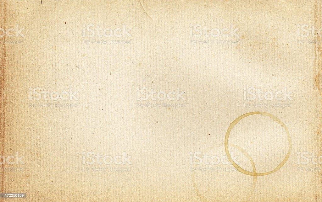 Coffee Stain Paper XXL stock photo
