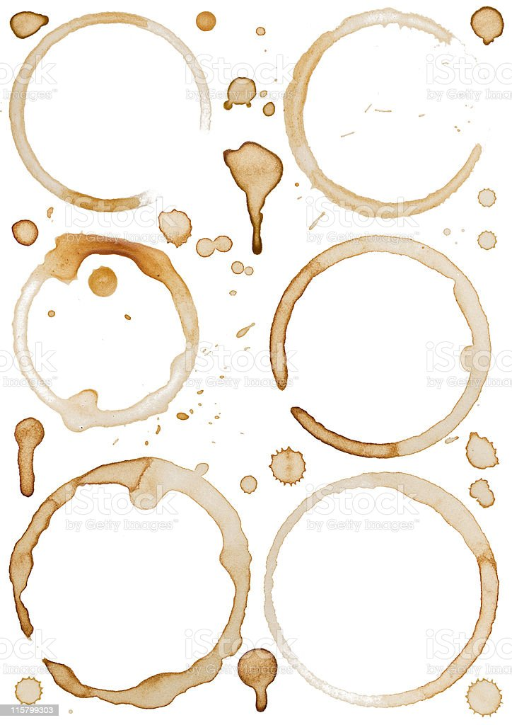 Coffee Stains and Drip XXLarge stock photo