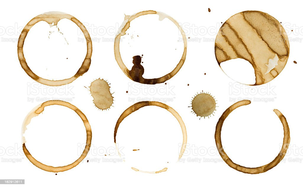 Coffee stains on paper XXXL stock photo