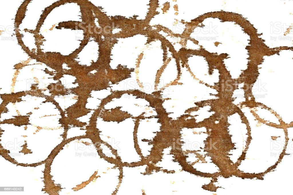 Coffee stains on textile stock photo