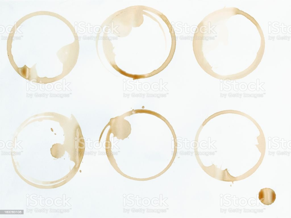 Coffee stains royalty-free stock photo