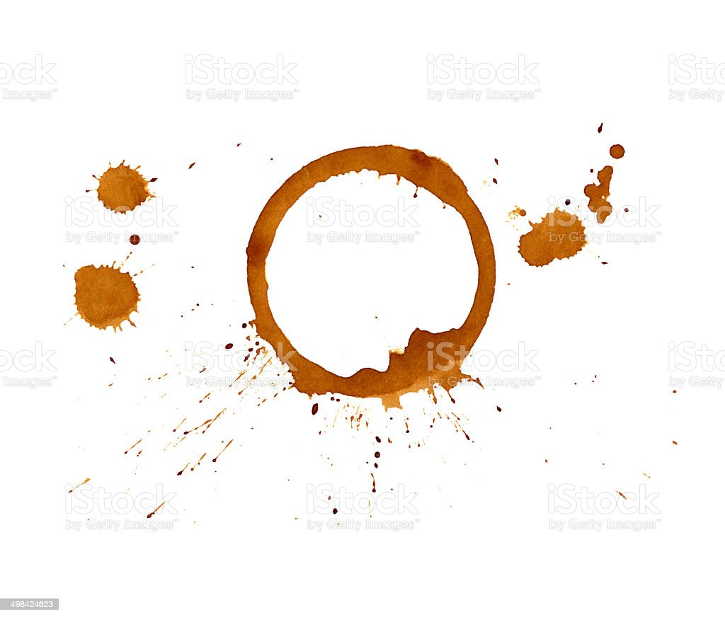Coffee stains. royalty-free stock vector art