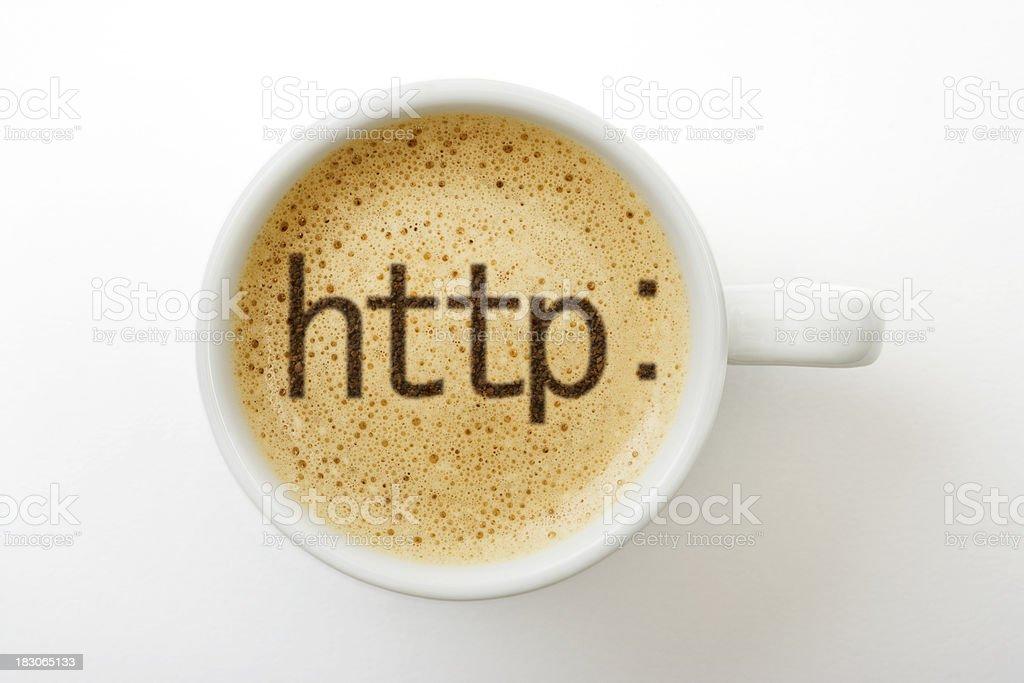 Coffee symbol royalty-free stock photo