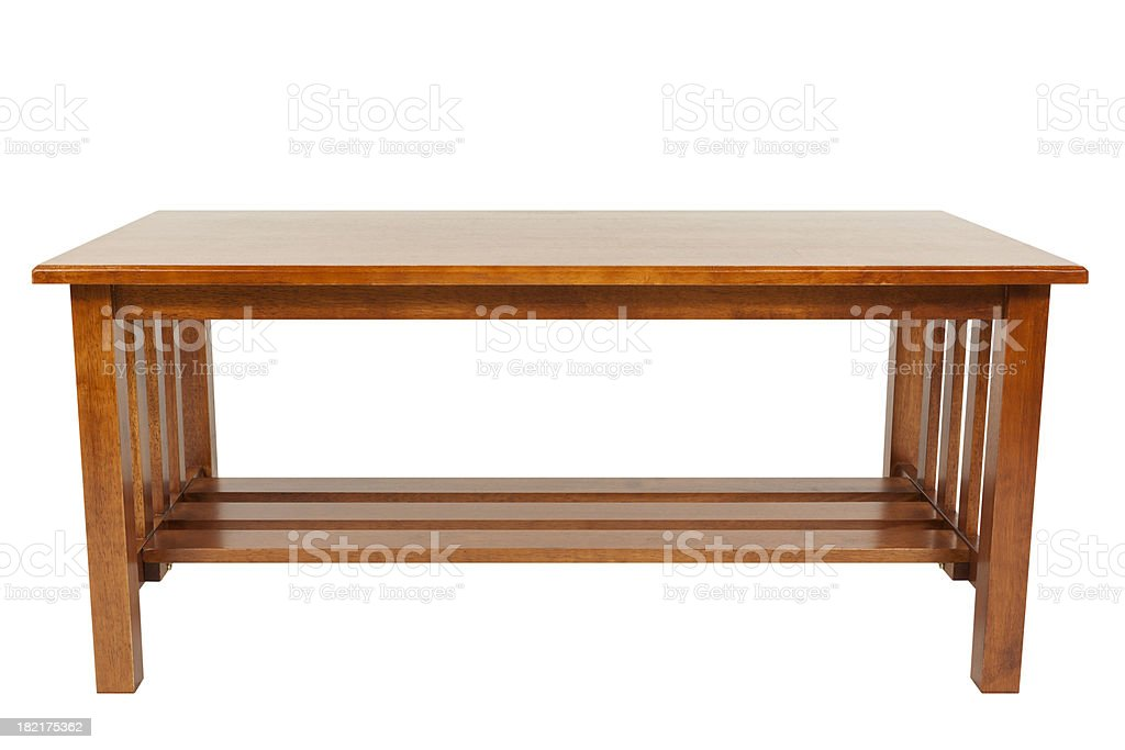 Coffee Table Isolated royalty-free stock photo