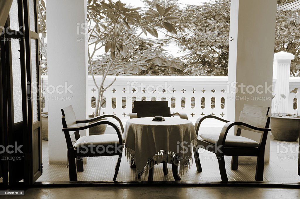 Coffee table stock photo