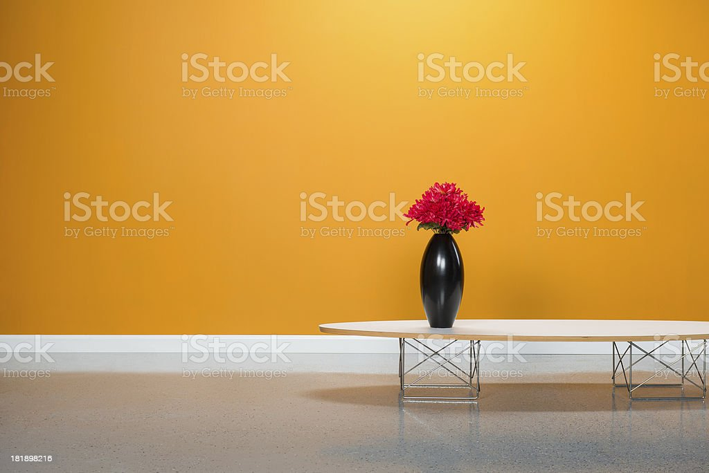 Coffee Table With Vase stock photo