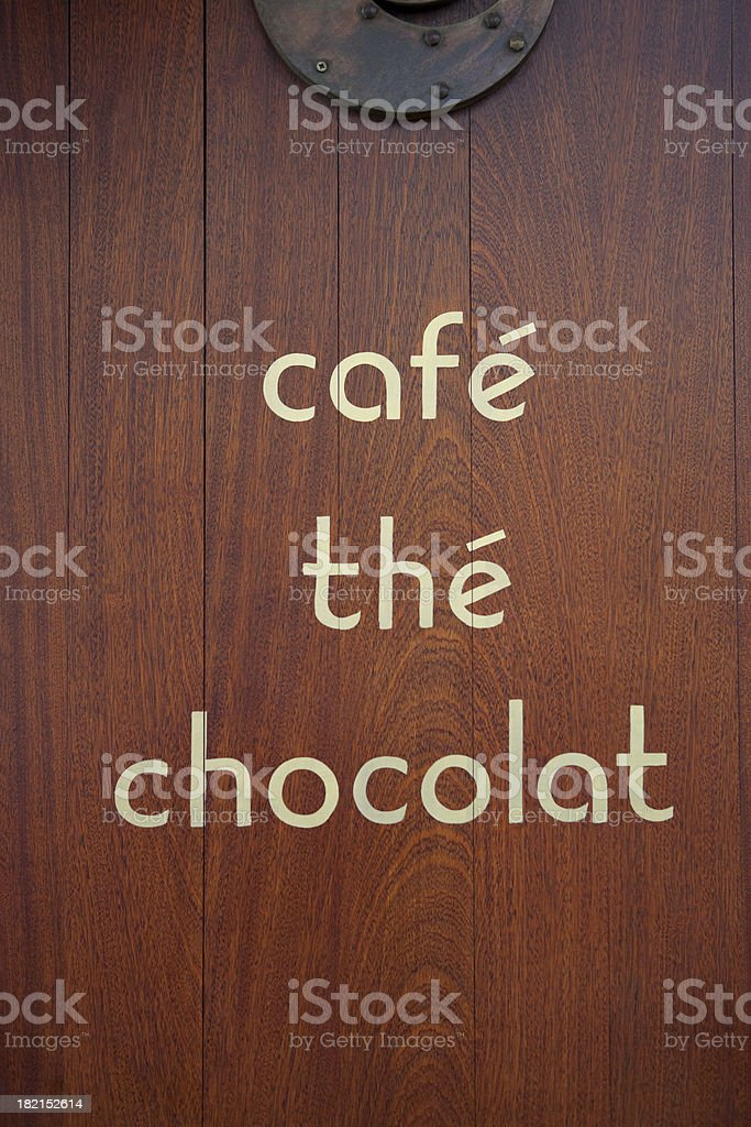 Coffee, Tea And Chocolat royalty-free stock photo