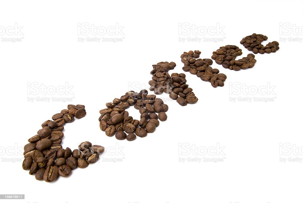 Coffee Text2 royalty-free stock photo