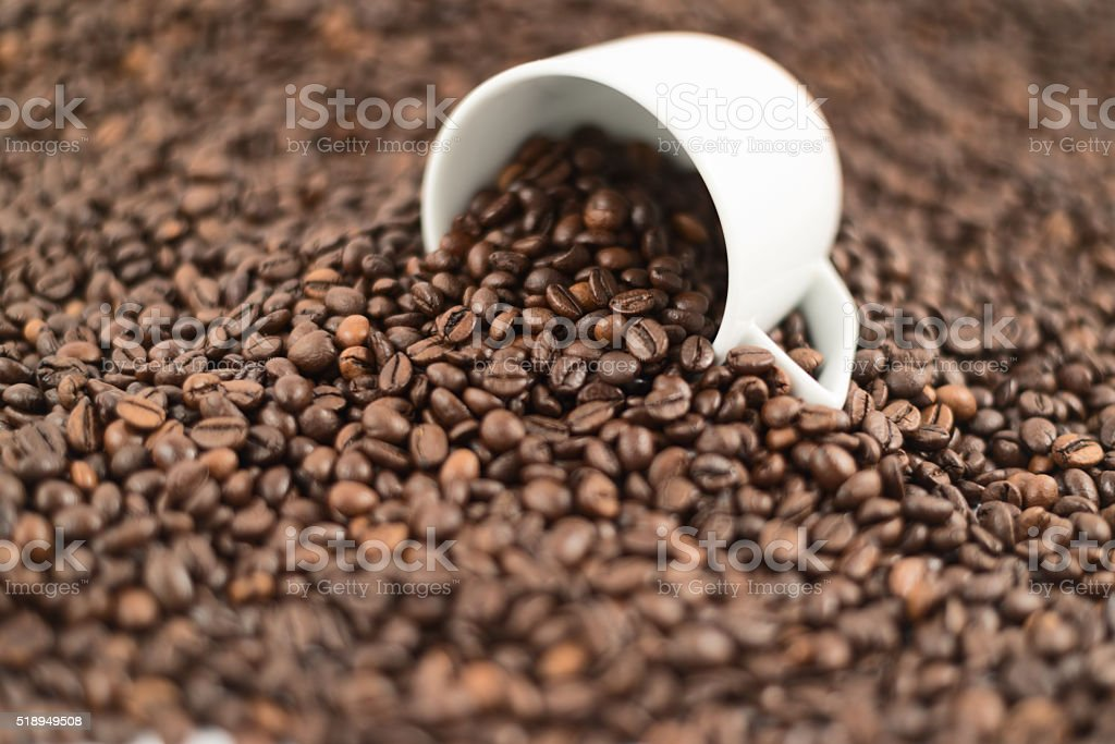 Coffee themed background composition stock photo