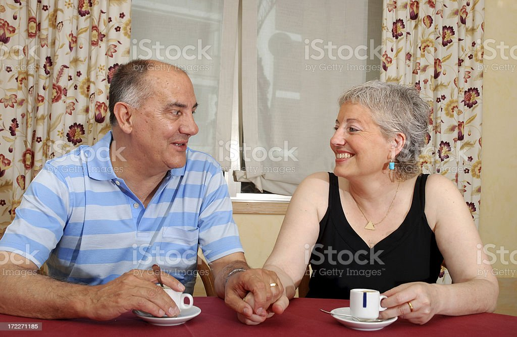 Coffee time together. royalty-free stock photo