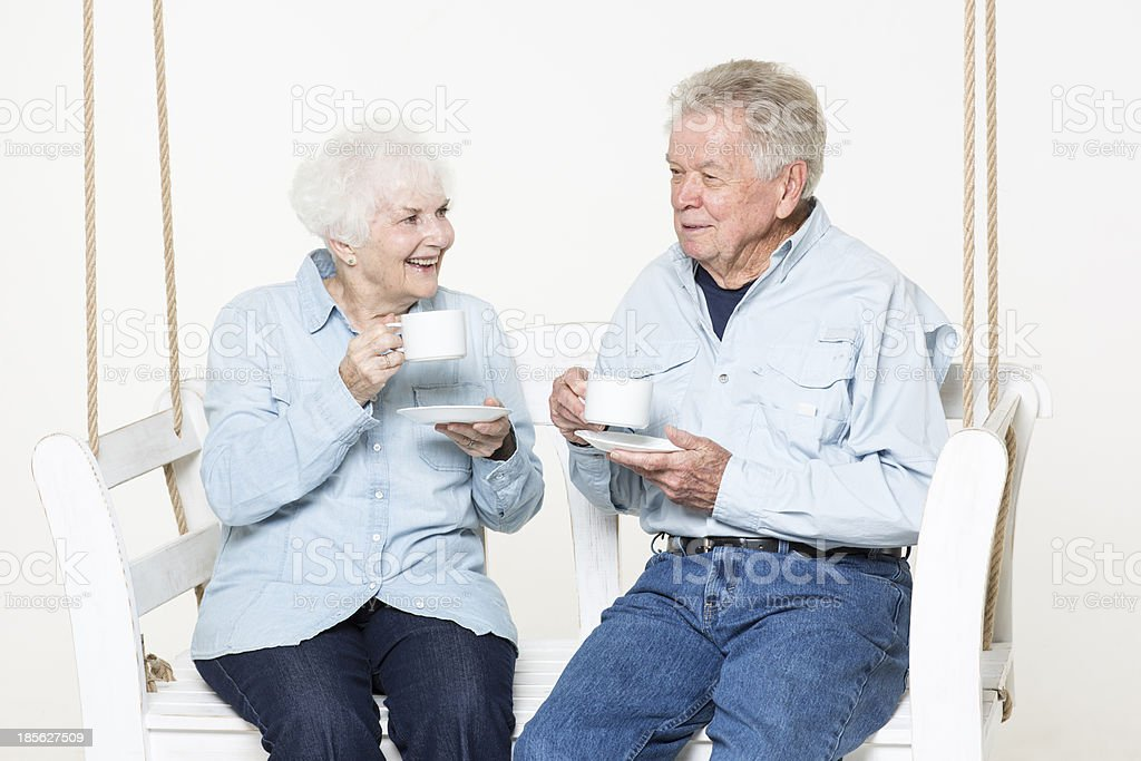 Coffee time together royalty-free stock photo