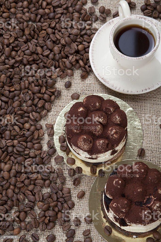 Coffee & Tiramisu royalty-free stock photo