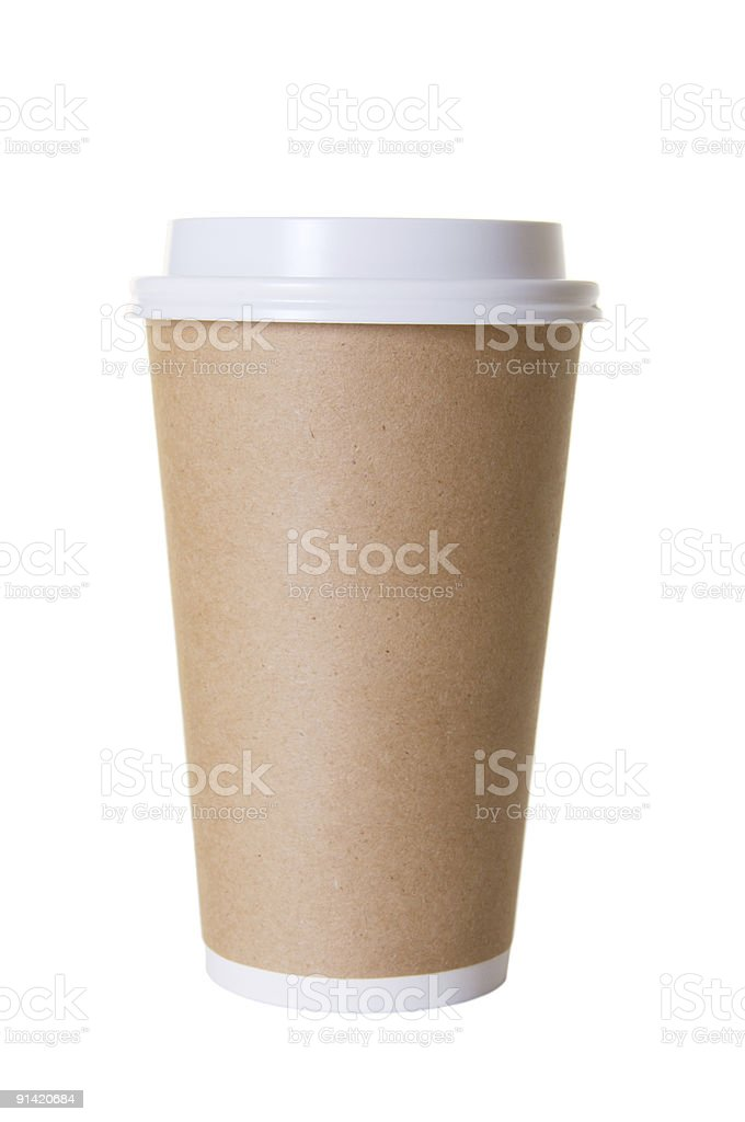 Coffee To Go Cup Isolated royalty-free stock photo