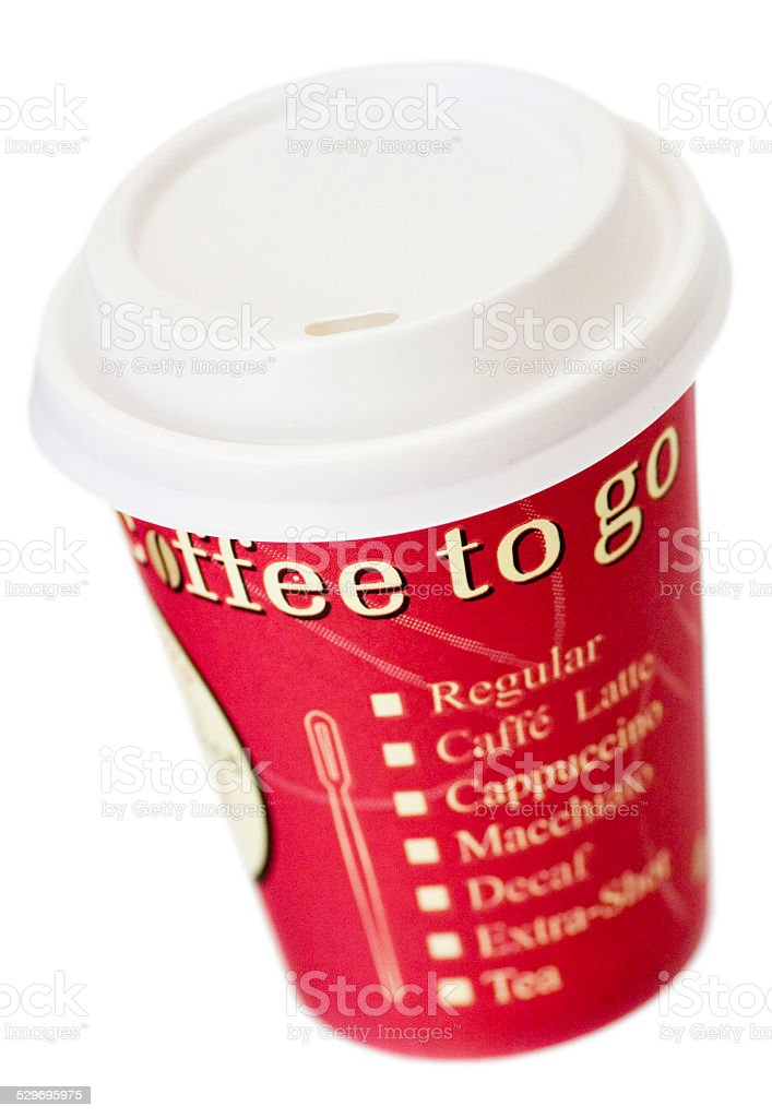 Coffee to go Pappbecher (noname) stock photo