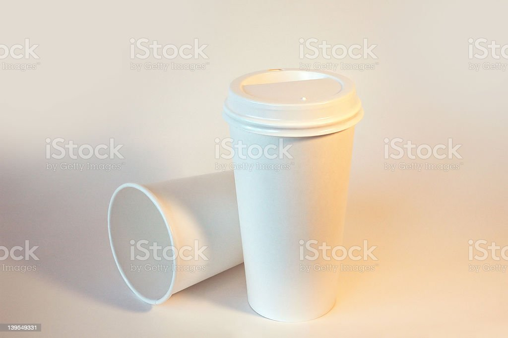Coffee to-go Cups royalty-free stock photo