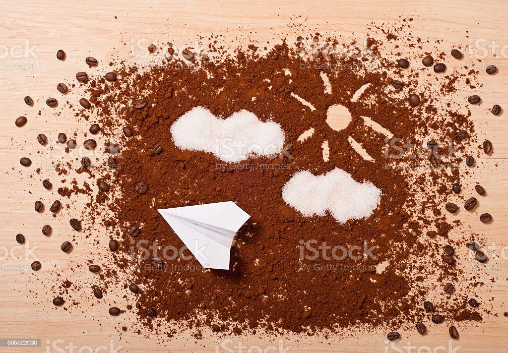 coffee travel stock photo