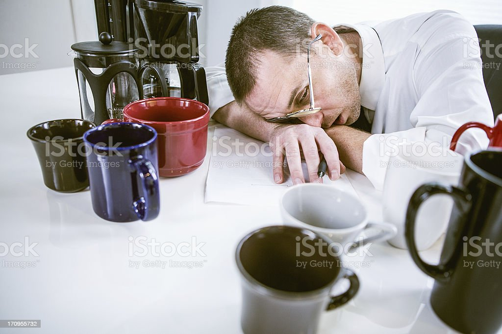 Coffee Troubles stock photo